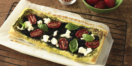 Black Olive and Goat Cheese Tart