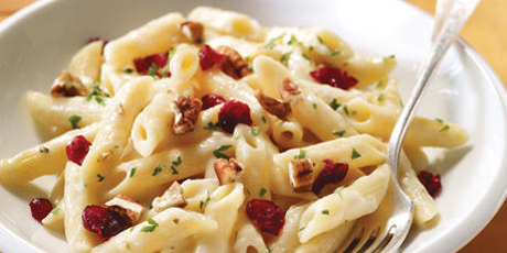 Cheese, Nuts & Cranberry Pasta