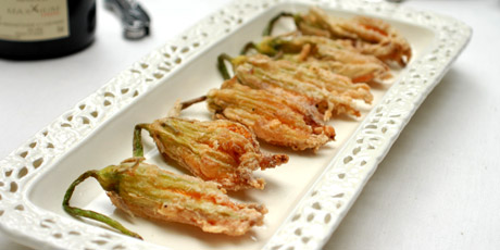 Deep-Fried Zucchini Blossoms