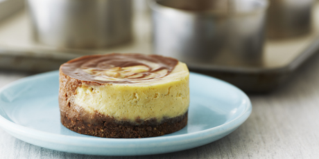 Individual Chocolate Swirl Cheesecakes