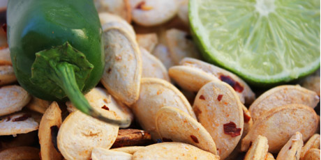 Jalapeno and Lime Pumpkin Seeds