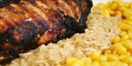 Jerk Chicken with Brown Rice