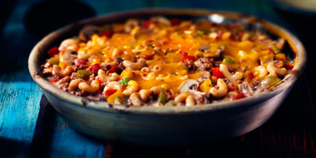Mac 'n Cheeseburger Casserole