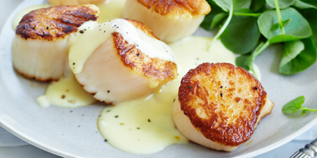 how to cook frozen scallops in a pan