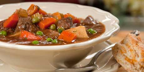 Stew-Pendous Beef Stew with Biscuits