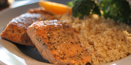 Teriyaki Salmon with Couscous and Broccoli