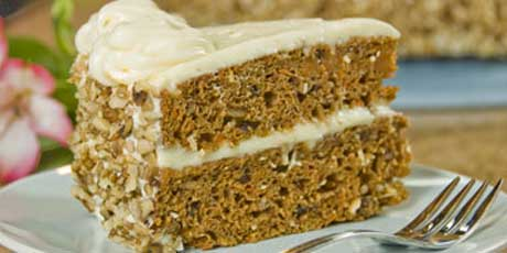 Two-Tiered Spiced Carrot Cake with Orange-Cream Cheese Frosting