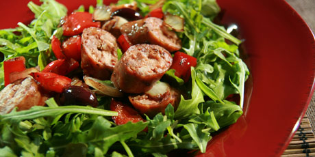 Warm Sausage and Pepper Salad
